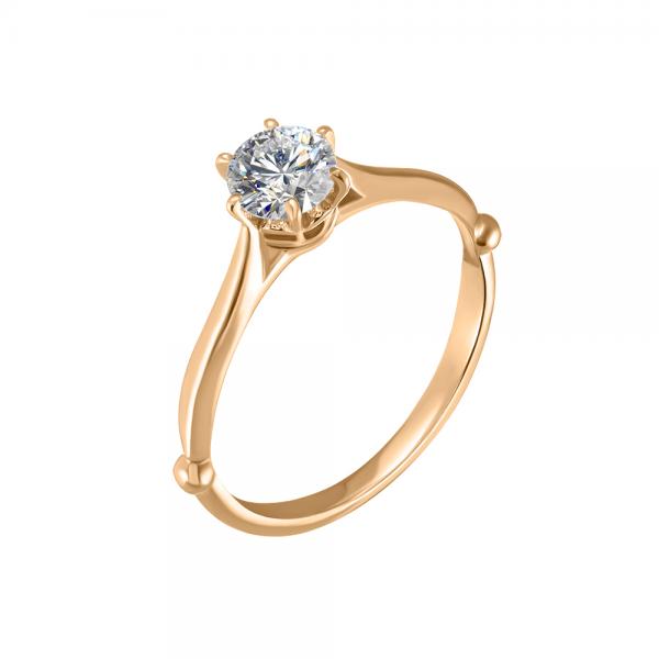 """Золотое помолвочное кольцо """"Бриллиантовый тюльпан"""" RD-8006"""