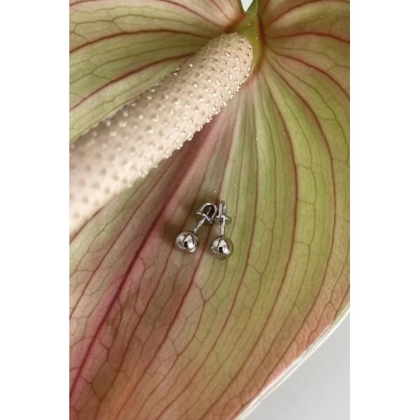 Шикарные серьги из желтого золота 585 пробы Шарики E-7894y