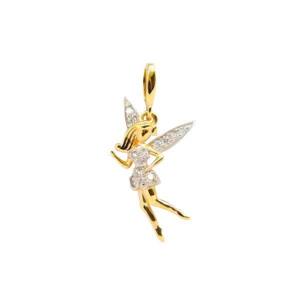 """Золотая подвеска """"Юная Фея"""" в красном золоте с фианитами PCz-00507"""