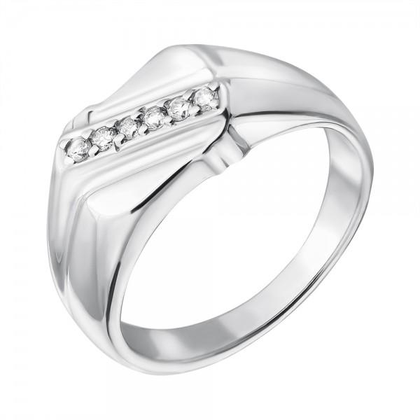 Ювелирное мужское кольцо из серебра 925 пробы с бриллиантами RD-1094Ag
