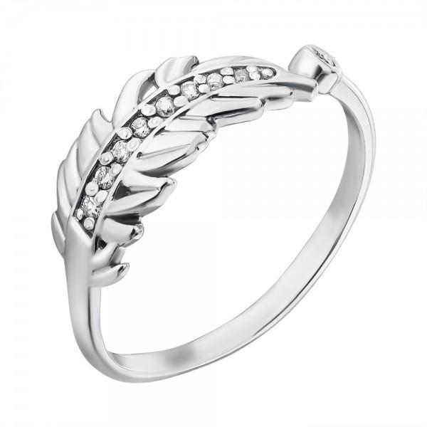 Ювелирное кольцо из серебра 925 пробы с бриллиантами RD-5611Ag