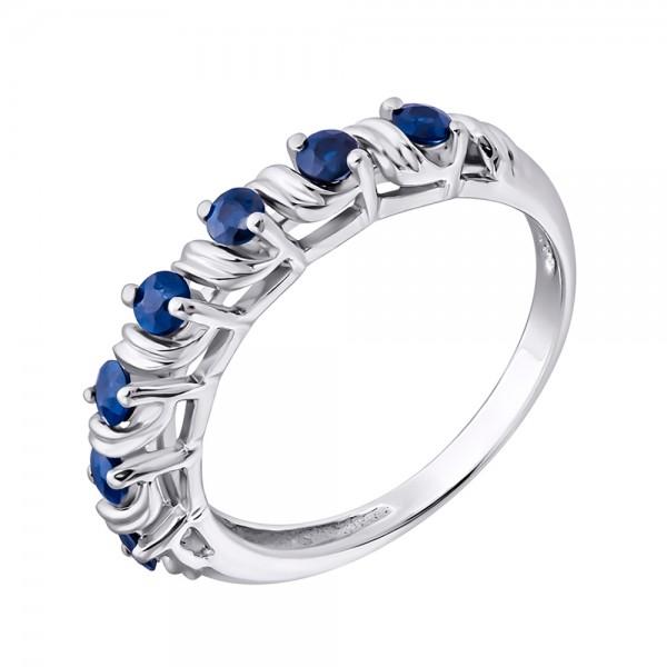 Ювелирное кольцо из серебра 925 пробы с сапфирами RS-6108Ag