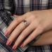 Ювелирное кольцо из серебра 925 пробы с рубинами и фианитами RCzR-6536Ag
