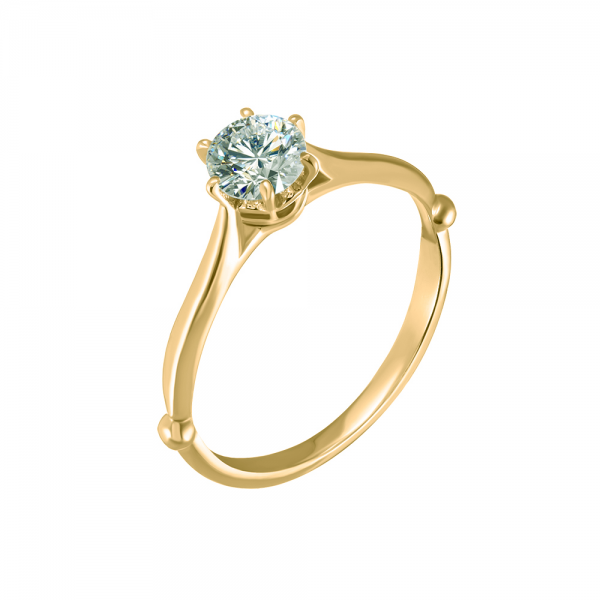 """Золотое помолвочное кольцо """"Бриллиантовый тюльпан"""" RD-8006y"""