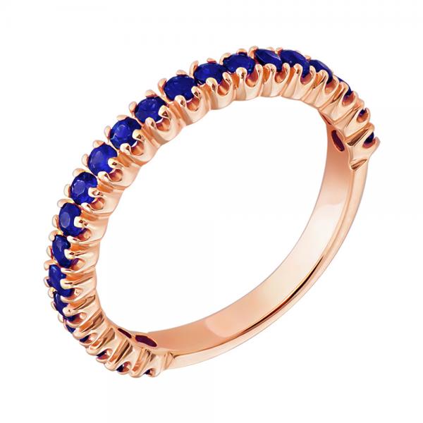 Ювелирное кольцо из красного золота 585 пробы с сапфирами RS-15011