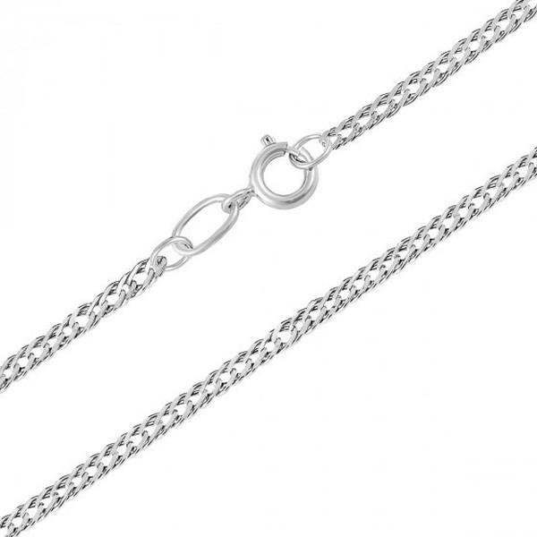 Серебряная цепочка Ромб НЦ 22-10523 длиной 45 см