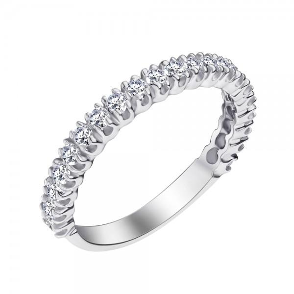 Ювелирное кольцо из белого золота 585 пробы с бриллиантами RD-15011w