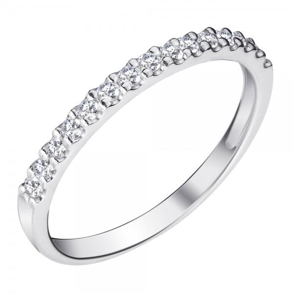 Ювелирное кольцо из белого золота 585 пробы с бриллиантами RD-15446w
