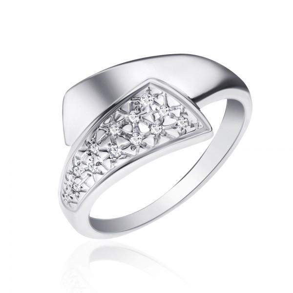 Ювелирное кольцо из серебра 925 пробы с бриллиантами RD-6060Ag