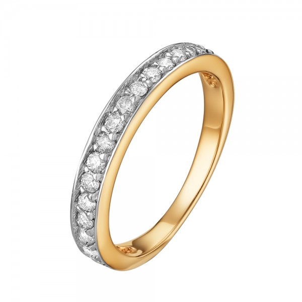 Ювелирное кольцо из жёлтого золота 585 пробы с бриллиантами RD-6566y