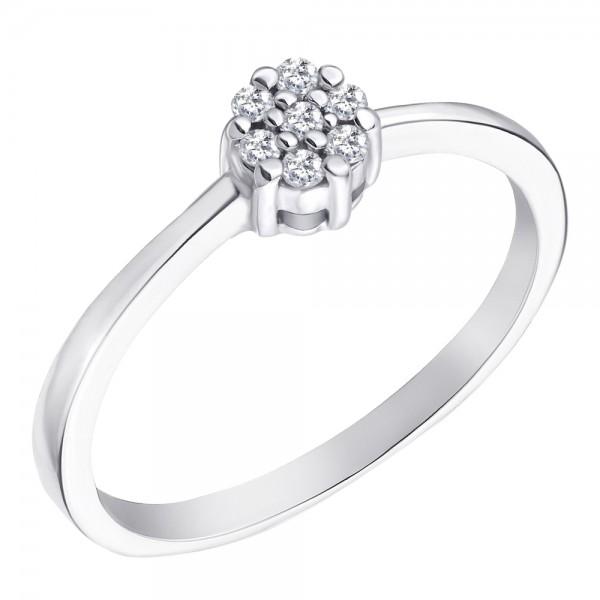 Ювелирное кольцо из белого золота 585 пробы с бриллиантами RD-6693w