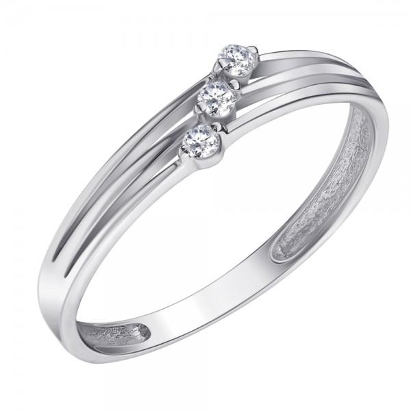Ювелирное кольцо из белого золота 585 пробы с бриллиантами RD-6703w