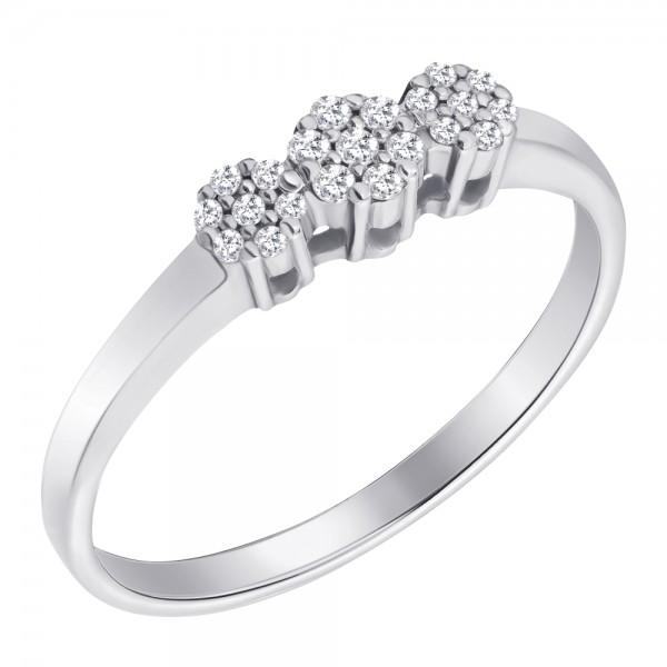 Ювелирное кольцо из белого золота 585 пробы с бриллиантами RD-6713w