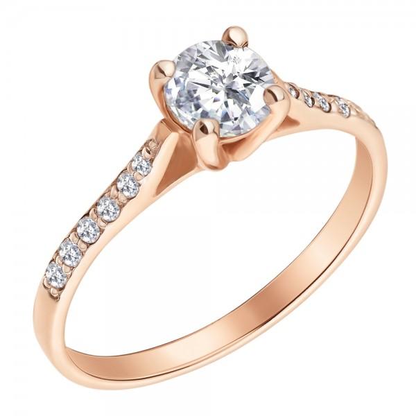 Золотое помолвочное кольцо RD-8002