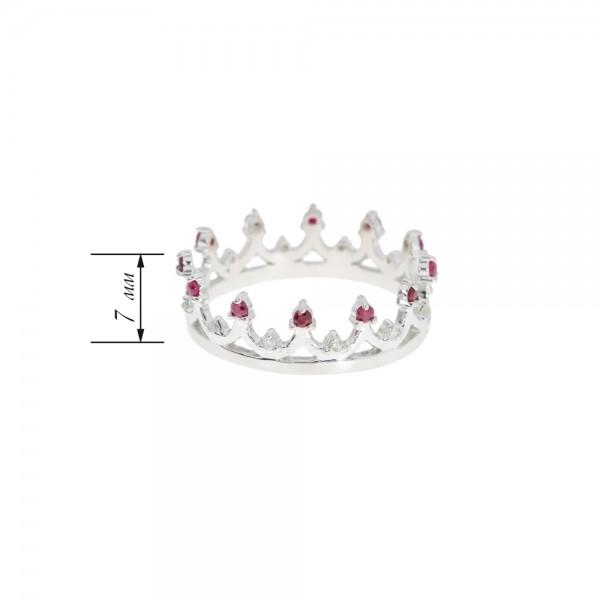 Ювелирное кольцо из серебра 925 пробы с рубинами и бриллиантами RDR-6927Ag