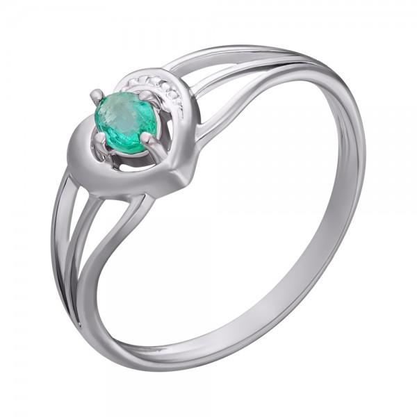 Ювелирное кольцо из серебра 925 пробы с изумрудом RE-6056Ag