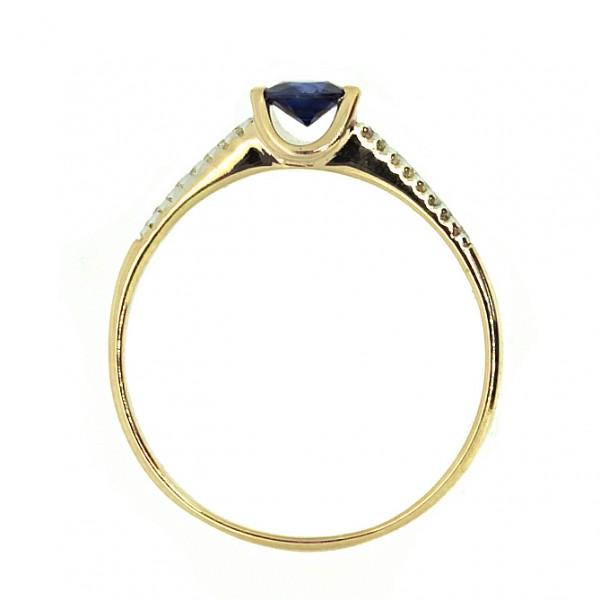 Ювелирное кольцо из белого золота 585 пробы с сапфиром и бриллиантами RS-6677