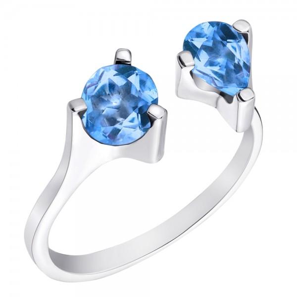 Серебряное кольцо с крупными топазами RТ-6920 Ag