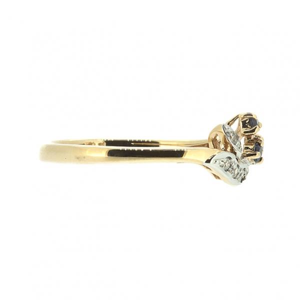 Ювелирное кольцо из красного золота 585 пробы с сапфирами и бриллиантами RS-15753