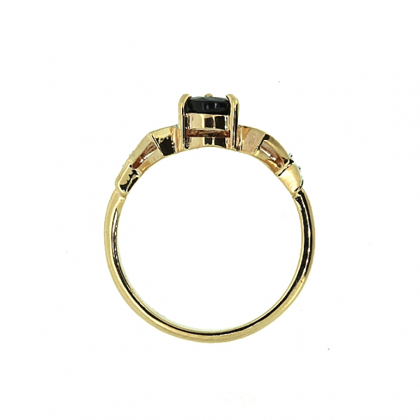 Ювелирное кольцо из красного золота 585 пробы с сапфиром и бриллиантами RS-6174