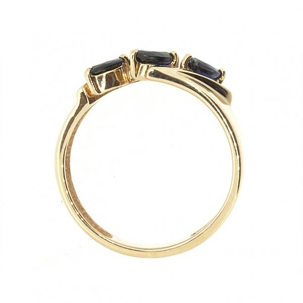Ювелирное кольцо из красного золота 585 пробы с сапфирами RS-6533