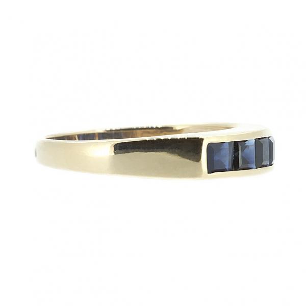 Ювелирное кольцо из красного золота 585 пробы с сапфирами RS-6121