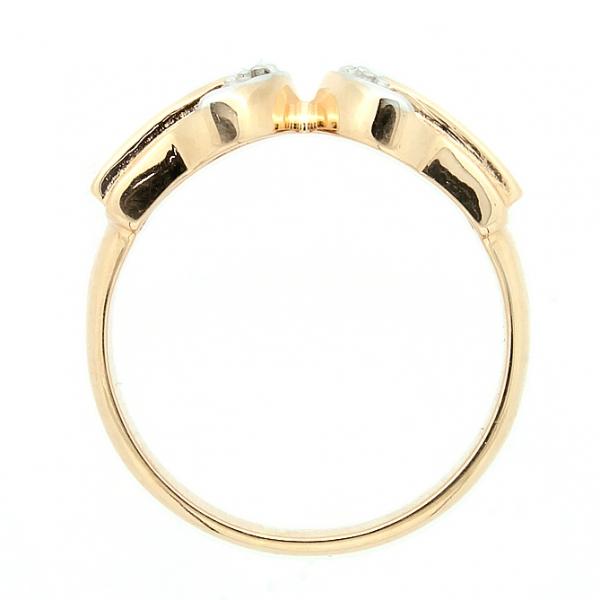 Ювелирное кольцо из красного золота 585 пробы с изумрудами и бриллиантами RE-6097