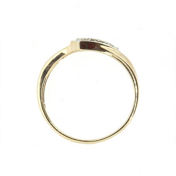 Ювелирное кольцо из красного золота 585 пробы с изумрудами и бриллиантами RE-8841