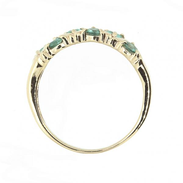 Ювелирное кольцо из красного золота 585 пробы с изумрудами RE-32792