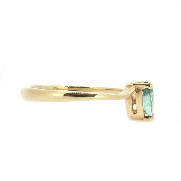 Ювелирное кольцо из красного золота 585 пробы с изумрудом RE-3