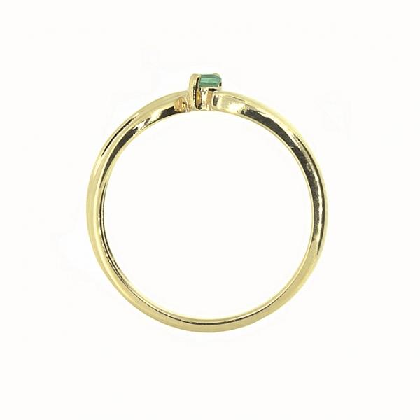 Ювелирное кольцо из красного золота 585 пробы с изумрудом RE-4285