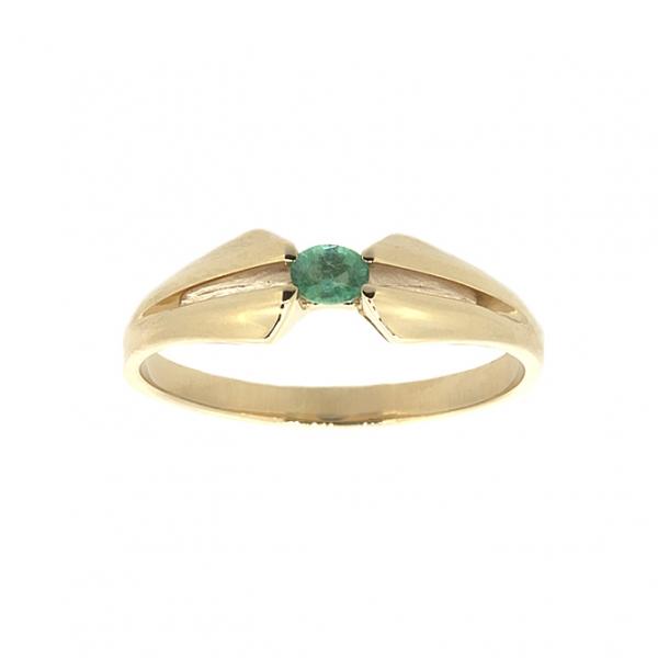 Ювелирное кольцо из красного золота 585 пробы с изумрудом RE-6029