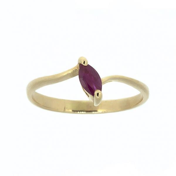 Ювелирное кольцо из красного золота 585 пробы с рубином RR-3