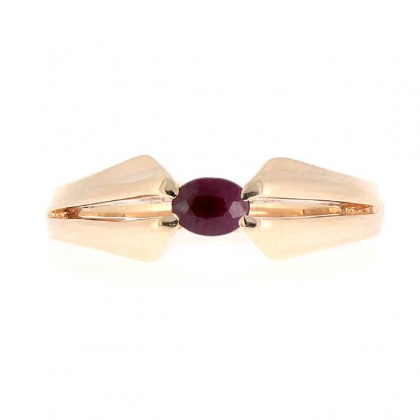 Ювелирное кольцо из красного золота 585 пробы с рубином RR-6029