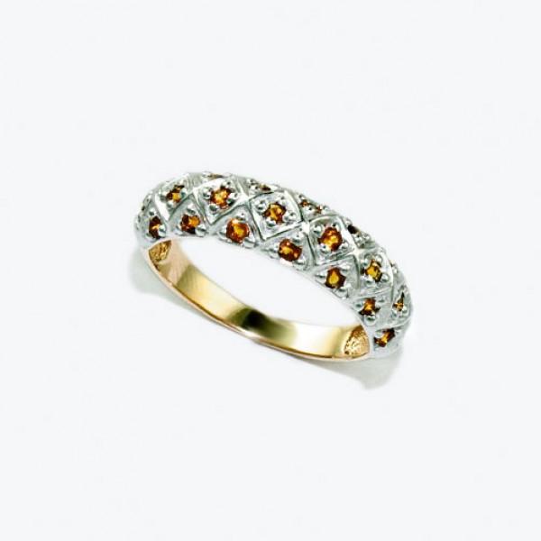 Ювелирное кольцо из красного золота 585 пробы с цитринами RCt-6562