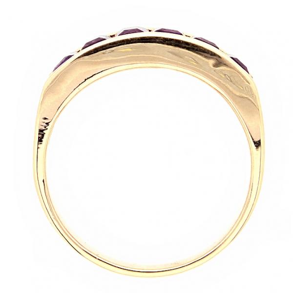 Ювелирное кольцо из красного золота 585 пробы с аметистами RAm-6121