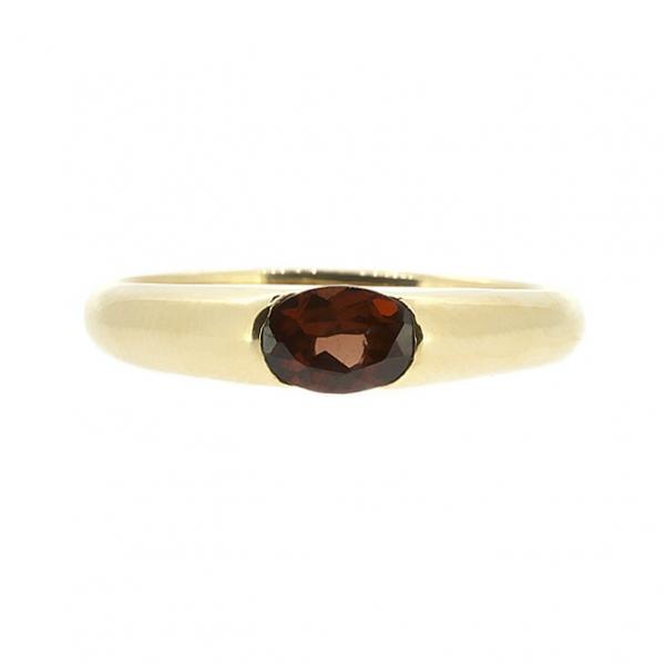 Ювелирное кольцо из красного золота 585 пробы с гранатом RGn-15790