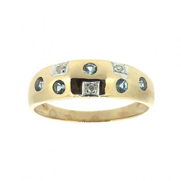 Ювелирное кольцо из красного золота 585 пробы с топазами и бриллиантами RT-6048