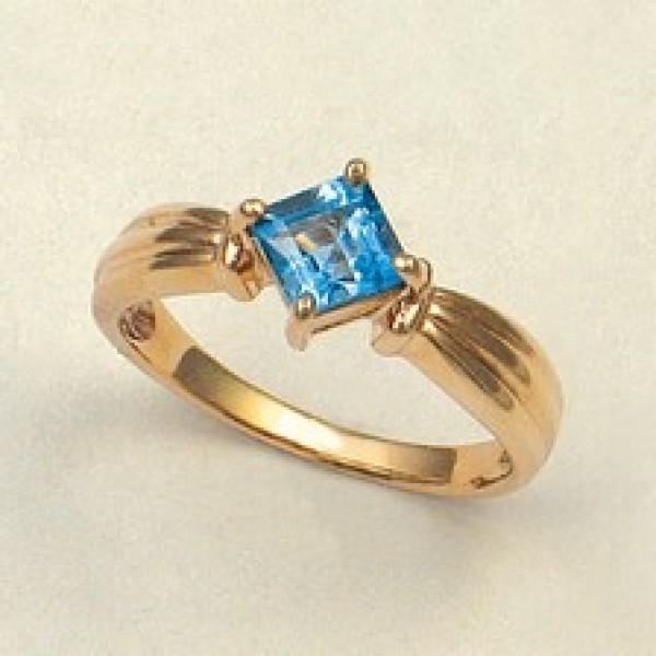 Ювелирное кольцо из красного золота 585 пробы с топазом RT-5025