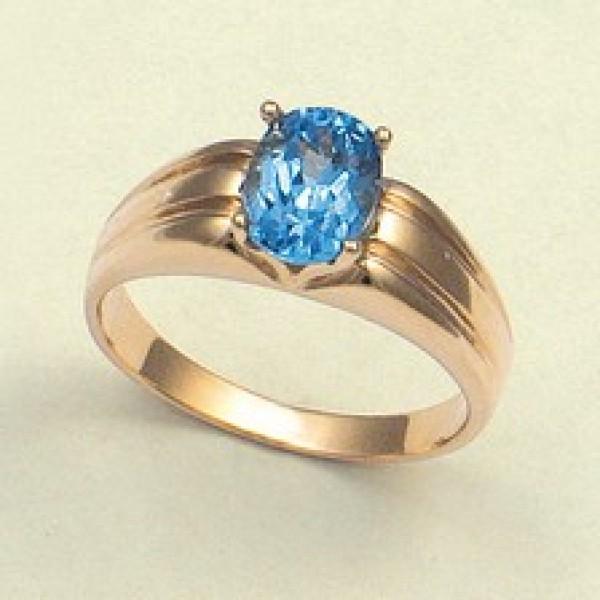 Ювелирное кольцо из красного золота 585 пробы с топазом RT-6006