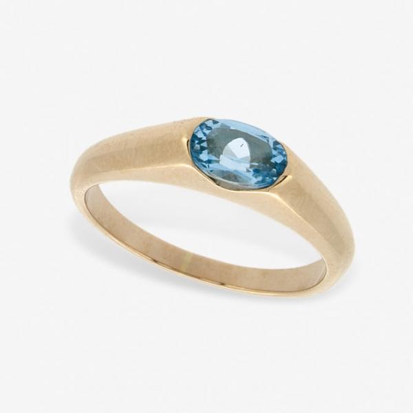 Ювелирное кольцо из красного золота 585 пробы с топазом RT-15790
