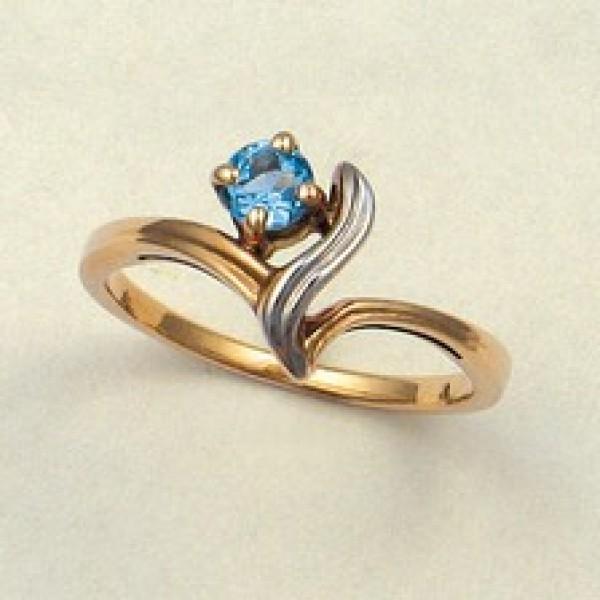 Ювелирное кольцо из красного золота 585 пробы с топазом RT-6023