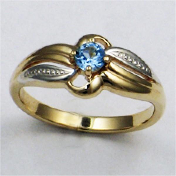 Ювелирное кольцо из красного золота 585 пробы с топазом RT-6055