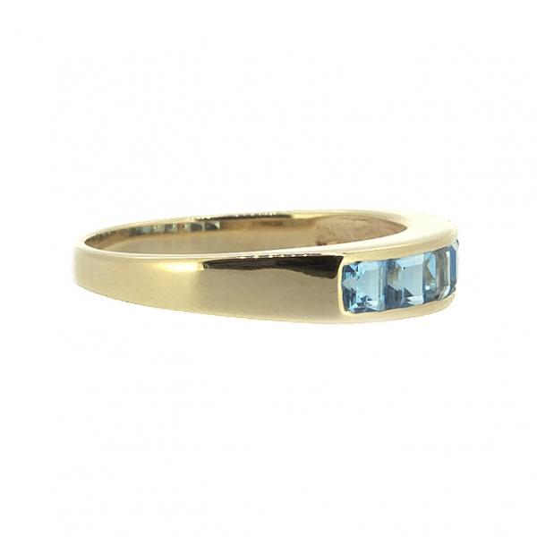 Ювелирное кольцо из красного золота 585 пробы с топазами RT-6121