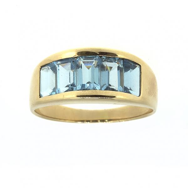 Ювелирное кольцо из красного золота 585 пробы с топазами RT-6247