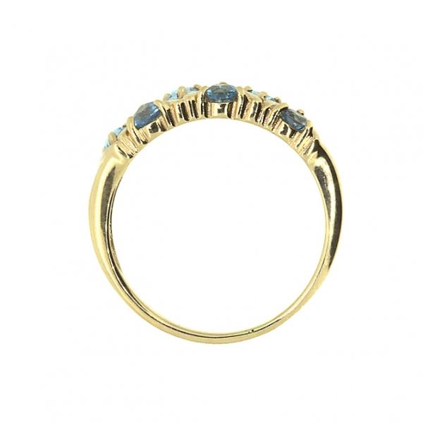 Ювелирное кольцо из красного золота 585 пробы с топазами RT-32792