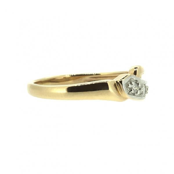 Ювелирное кольцо из красного золота 585 пробы с бриллиантами RD-3506