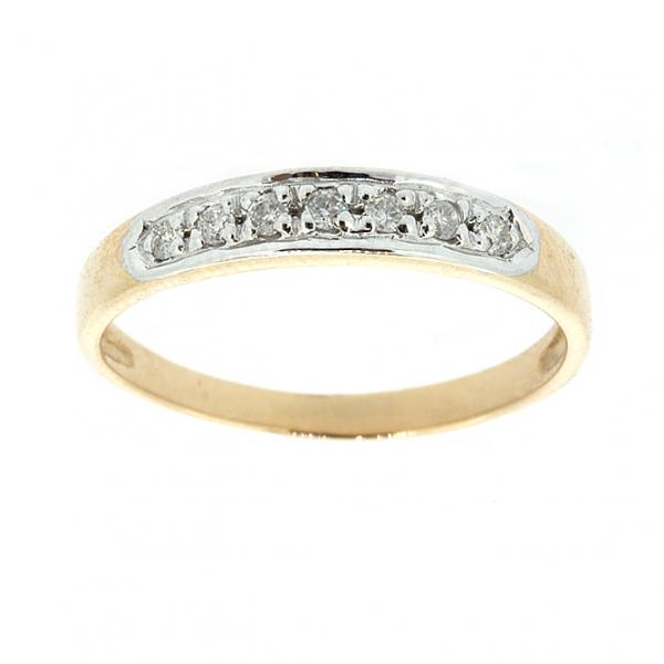 Ювелирное кольцо из красного золота 585 пробы с бриллиантами RD-3911