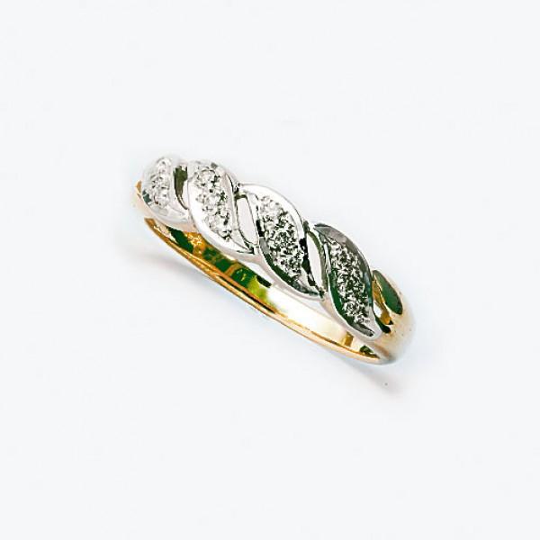 Ювелирное кольцо из красного золота 585 пробы с бриллиантами RD-4296