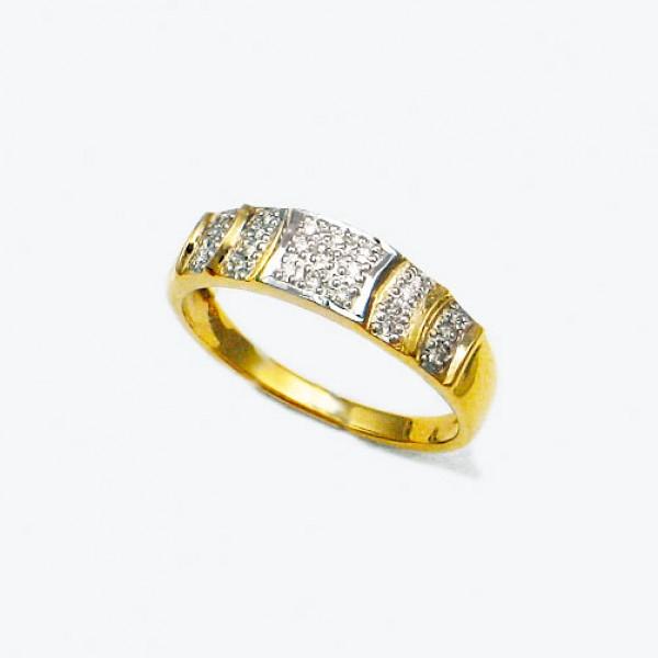 Ювелирное кольцо из красного золота 585 пробы с бриллиантами RD-4594